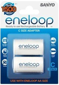 Panasonic eneloop adapter of AA Mignon on C Baby, 2-pack (NCS-TG C/AD-C-2BP)