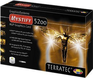 TerraTec Mystify 5200, GeForceFX 5200, 128MB DDR, VGA, DVI, TV-out, AGP (7130)