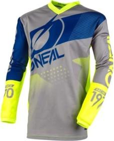 O'Neal Element Factor Trikot langarm gray/blue/neon yellow (Herren) (E001-20)