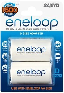 Panasonic eneloop adapter of AA Mignon on D Mono, 2-pack (NCS-TG D/AD-D-2BP)