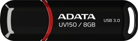 ADATA DashDrive UV150 schwarz 8GB, USB-A 3.0 (AUV150-8G-RBK)