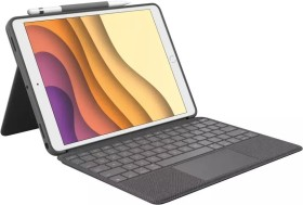 "Logitech Combo Touch, KeyboardDock for Apple iPad Pro/Air 3 10.5"" grey, UK (920-009645)"