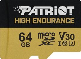 Patriot EP High Endurance R95 microSDXC 64GB Kit, UHS-I U1, A1, Class 10 (PEF64GE31MCH)