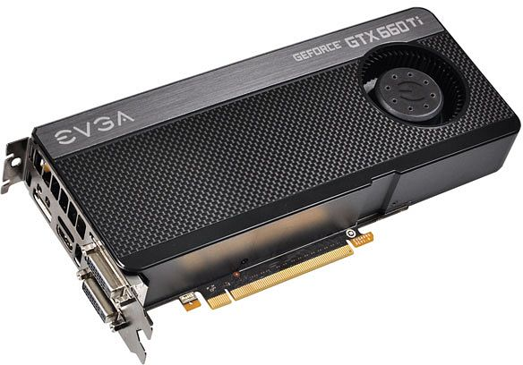 EVGA GeForce GTX 660 Ti Superclocked, 2GB GDDR5, 2x DVI, HDMI, DisplayPort (02G-P4-3662-KR)