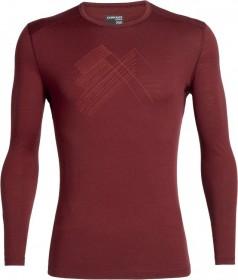 Icebreaker Merino 200 Oasis Crewe Snap Head Shirt langarm cabernet (Herren) (104711-616)