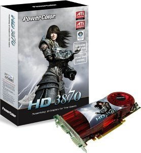 PowerColor Radeon HD 3870, 512MB GDDR4, 2x DVI, TV-out, PCIe 2.0 (A67D-TE3)