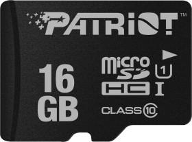 Patriot LX R80 microSDHC 16GB, UHS-I U1, Class 10 (PSF16GMDC10)