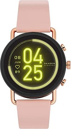 Skagen Connected Falster 3 schwarz/gold mit Silikonarmband pink (SKT5205) -- von uhr24.de