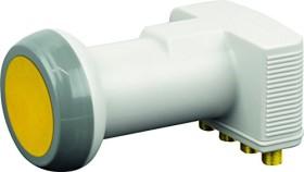 Schwaiger Sun Protect - Digitales Quattro LNB Karton hellgrau (SPS6818H 511)