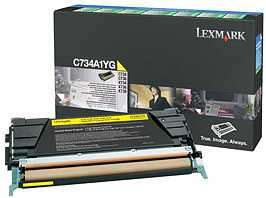 Lexmark Return Toner C734A1YG yellow