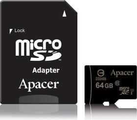 Apacer microSDXC 64GB Kit, UHS-I U1, Class 10 (AP64GMCSX10U1-R)