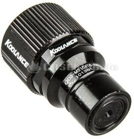 Koolance QD3 No-Spill Schnellverschluss gerade male 16/10mm schwarz (QD3-MS10X16-BK)