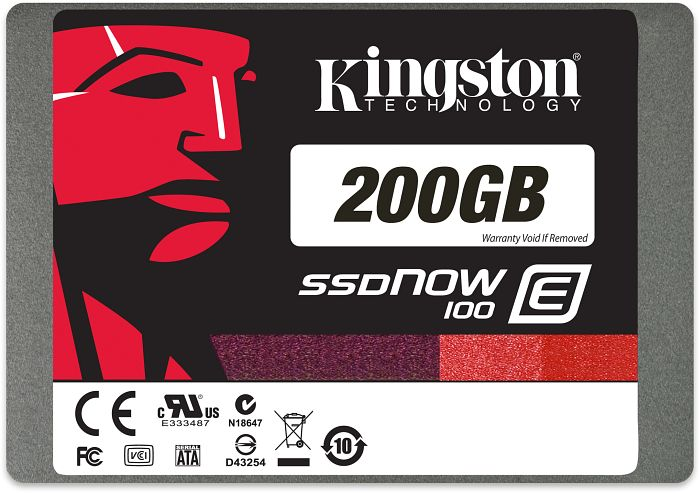 "Kingston SSDNow E100 SSD 200GB, 2.5"", SATA 6Gb/s (SE100S37/200G)"