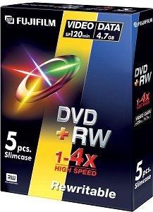 Fujifilm DVD+RW 4.7GB 4x, 5-pack Videobox (45268)