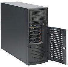 Supermicro 733TQ-500B schwarz, 500W