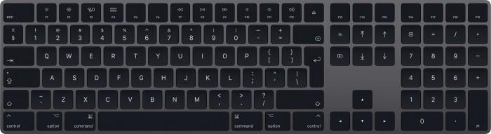 Apple Magic Keyboard mit Ziffernblock, grau, DE (MRMH2D/A)