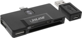InLine OTG Multi slot-Card Readers, USB-A 2.0/USB 2.0 micro-B [plug] (66775B)