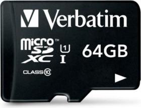 Verbatim R45 microSDXC 64GB USB-Adapter, Class 10 (44060)