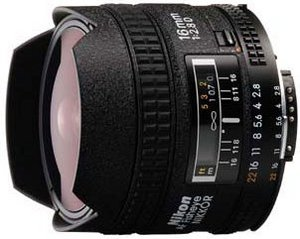 Nikon AF 16mm 2.8D Fisheye schwarz (JAA626DA)