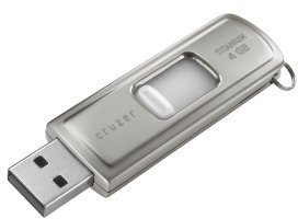 SanDisk Cruzer Titanium U3 16GB, USB-A 2.0 (SDCZ7-016G-E11)