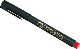 Faber-Castell Finepen 1511 Faserschreiber, 0.4mm, rot (151121)