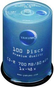 Yakumo CD-R 80min/700MB, sztuk 100