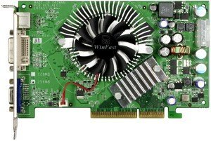 Leadtek WinFast A7600 GT TDH, GeForce 7600 GT, 256MB GDDR3, VGA, DVI, TV-out, AGP