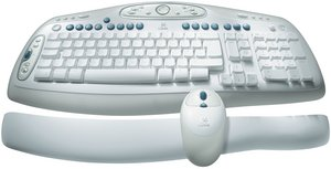 Logitech Cordless desktop LX 501, PS/2 & USB, DE (967419-0102)