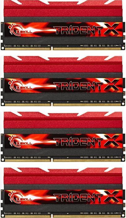 G.Skill TridentX DIMM Kit 16GB, DDR3-2400, CL10-12-12-31 (F3-2400C10Q-16GTX)