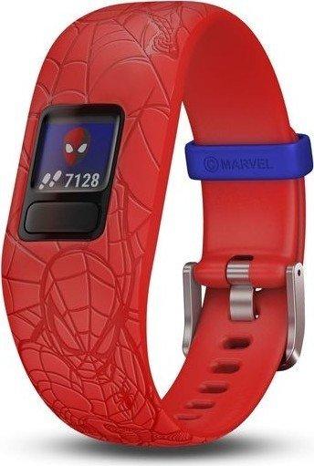 Garmin vivofit jr. 2 Marvel Spider-Man activity tracker adjustable red (010-01909-16)