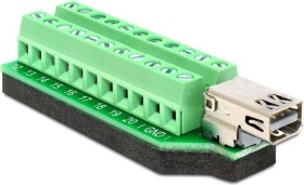 DeLOCK Mini DisplayPort [Buchse] auf 22-Pin-Terminalblock Adapter (65394)