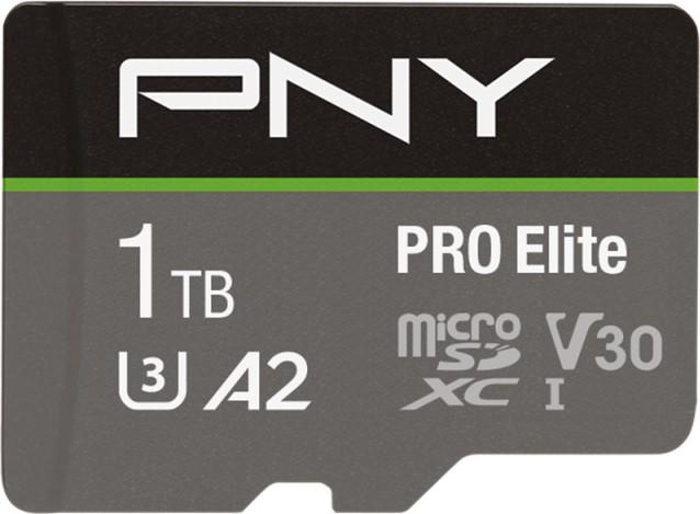 PNY Pro Elite R100/W90 microSDXC 1TB Kit, UHS-I U3, A2, Class 10 (P-SDU1TBV32100PRO-GE)