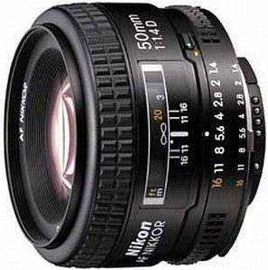 Nikon AF 50mm 1.4D black (JAA011DB)