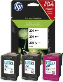 HP Druckkopf mit Tinte 301 2x schwarz/dreifarbig, 3er-Pack (E5Y87EE)