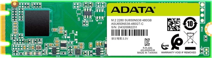 ADATA Ultimate SU650 480GB, M.2 (ASU650NS38-480GT-C/ASU650NS38-480GT-R)