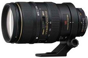 Nikon AF 80-400mm 4.5-5.6D ED VR schwarz (JAA771DA)