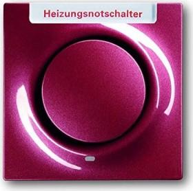 Busch-Jaeger Impuls Zentralscheibe mit Aufdruck Heizung, brombeer (1789 H-777-101)