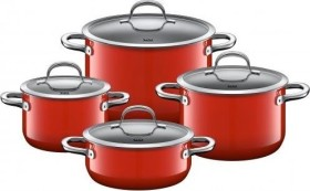 WMF Silit Passion cooking pot set Red, 4-piece. (21.0929.7093)