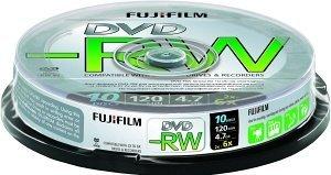 Fujifilm DVD-RW 4.7GB 6x, 10er Spindel (48502)