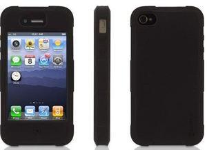 Griffin Protector für Apple iPhone 4 schwarz (GB02572)