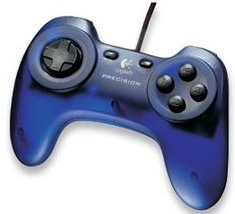 Logitech Precision Gamepad blau, USB (PC) (963335-0914)