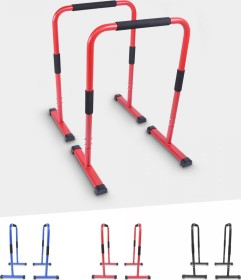 Gorilla Sports Push-Up Stand Bar Parallettes rot (100829-00038)