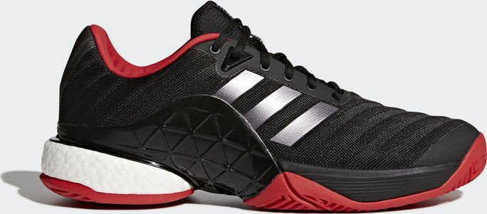 newest 8189f a2d96 adidas Barricade 2018 Boost core blacknight metallicscarlet (Herren)  (CM7829