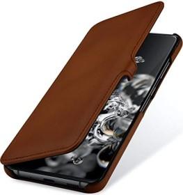 Stilgut Book Type Leather Case Clip für Samsung Galaxy S20 Ultra braun (B085S1R7KB)