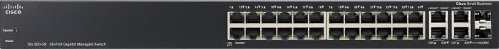Cisco SG300 Rackmount Gigabit Managed Switch, 26x RJ-45, 2x RJ-45/SFP (SG300-28/SRW2024-K9)