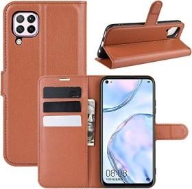 Fertuo Flip Cover für Huawei P40 Lite braun