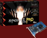 Guillemot / Hercules 3D Prophet II GTS Pro, GeForce2 GTS Pro, 64MB DDR, AGP, TV-out, retail