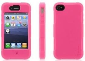 Griffin Protector für Apple iPhone 4 rosa (GB02570)