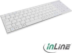 InLine Bluetooth mini-Keyboard with touchpad white, USB, DE (55374W)