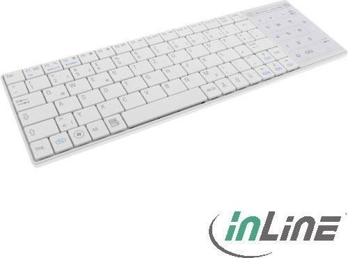 InLine Bluetooth Mini-Tastatur mit Touchpad weiß, USB, DE (55374W)